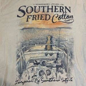 Southern fried cotton baby blue t shirt